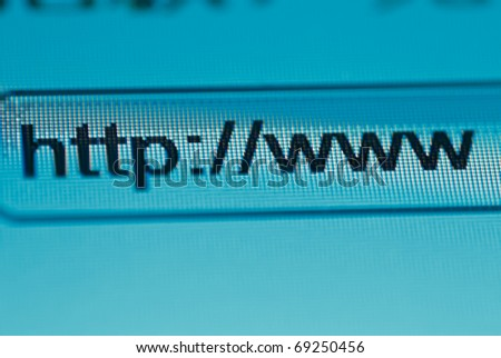browsing bar text http www macro - stock photo