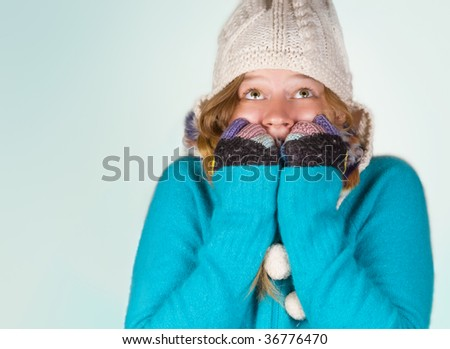 Brrr! Winter on it's way! - stock photo