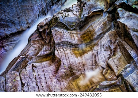 Bruar falls, Highlands, Scotland - stock photo