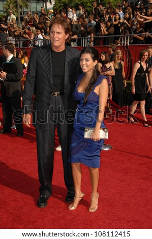 Bruce Jenner and Kourtney Kardashian  at the 2008 ESPY Awards. Nokia Theatre, Los Angeles, CA. 07-16-08