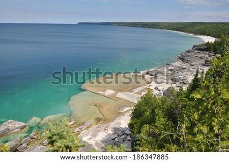 Bruce Peninsula's beautiful color, Ontario, Canada - stock photo