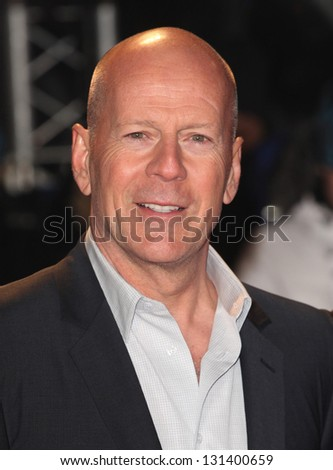 Bruce Willis arriving for the 'A Good Day to Die Hard' UK Premiere, Empire Leicester Square, London. 07/02/2013 Picture by: Alexandra Glen - stock photo