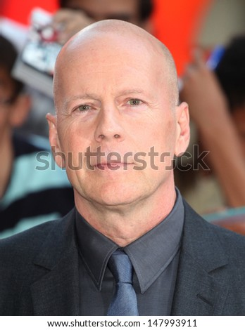 Bruce Willis arriving for the UK Premiere of Red 2, at Empire Leicester Square, London. 22/07/2013 - stock photo
