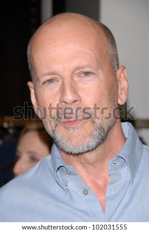 "Bruce Willis at a celebration of Jerry Weintraub's New Book ""When I Stop Talking You'll Know I'm Dead,"" Barney's New  York, Beverly Hills, CA. 05-18-10 - stock photo"