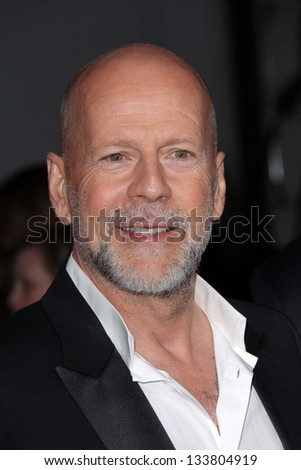 "Bruce Willis at the ""G.I. Joe: Retaliation"" Los Angeles Premiere, Chinese Theater, Hollywood, CA 03-28-13 - stock photo"