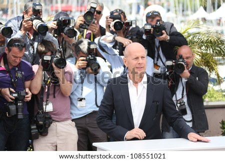 Bruce Willis at the 'Moonrise Kingdom' photocall - during the 65th Cannes Film Festival Cannes, France. 16/05/2012 Picture by: Henry Harris / Featureflash