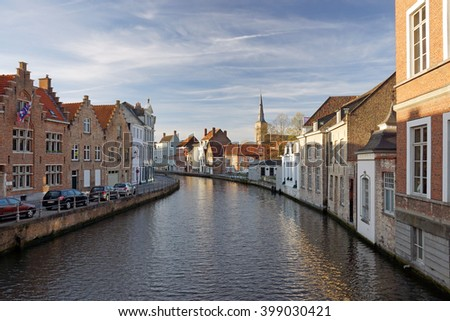 Bruges, canal view - stock photo