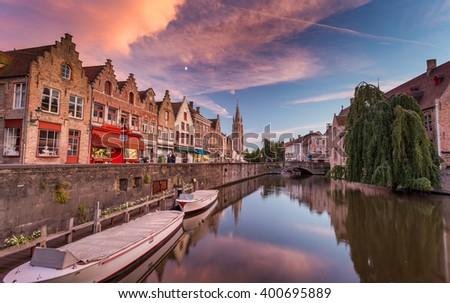 Bruges in Belgium - stock photo