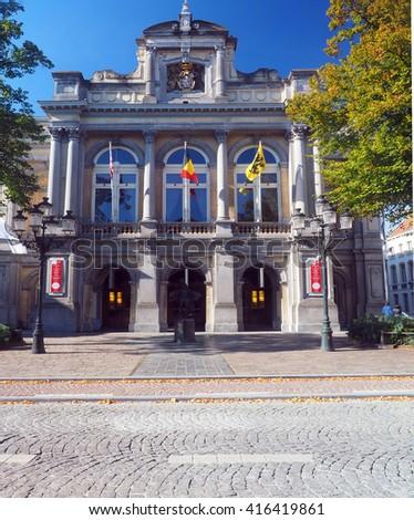 Brugge Culture Center Bruges Belgium Europe      - stock photo