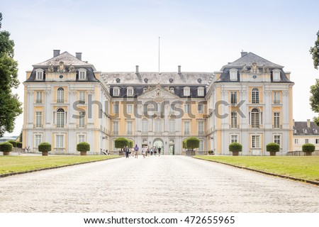 Bruhl, Germany - July 21, 2016: Augustusburg Palace represents one of the first examples of Rococo creations in Germany.