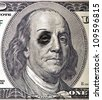 Bruised and Battered by Recession Ben Franklin - stock photo
