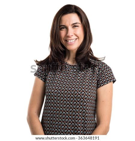 Brunette woman - stock photo