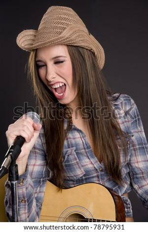 Brunette Country Singer 23