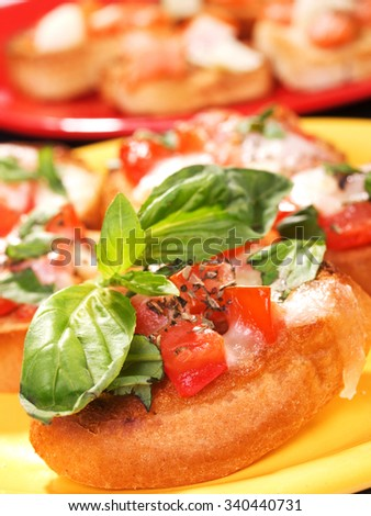 Bruschetta close up