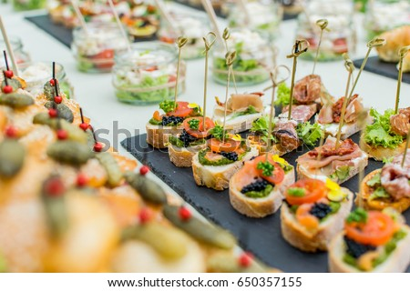 Bruschetta Tomato Italian Finger Food Wedding Stock Photo ...