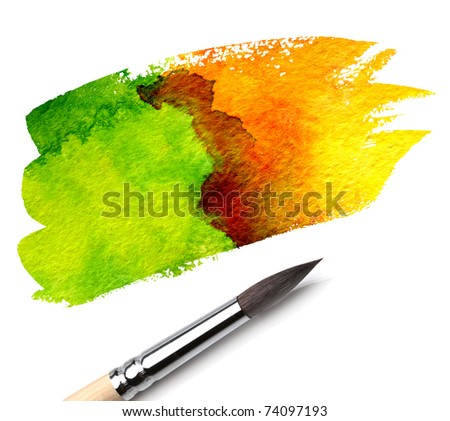 brush and paint scratch - stock photo