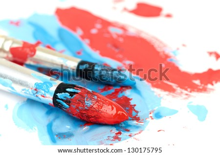 brush and paint scratch isolated on white background - stock photo