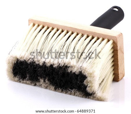 Brush for cleaning isolated on a white background - stock photo