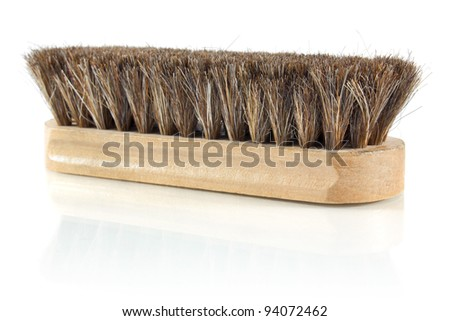 brush for cleaning shoes isolated on white background - stock photo