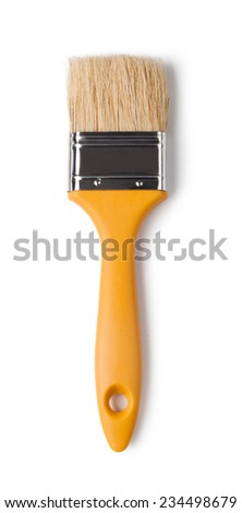 brush isolated on a white background - stock photo