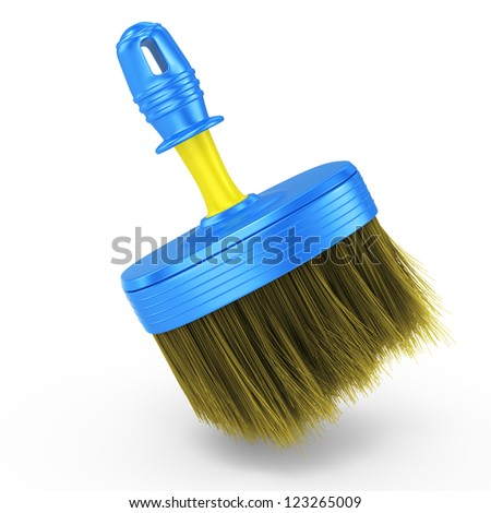 brush isolated on white background. 3d rendered image