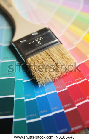 Brush on a different color paint swatches