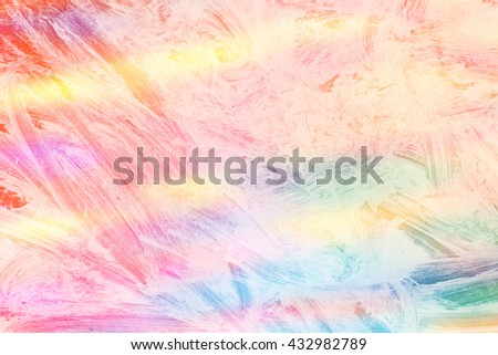 brush stroke on rainbow colorful background - copy space for text - stock photo