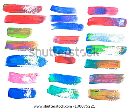 brush strokes - the perfect backdrop for your text - stock photo