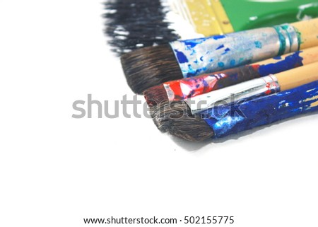 Brush with white background