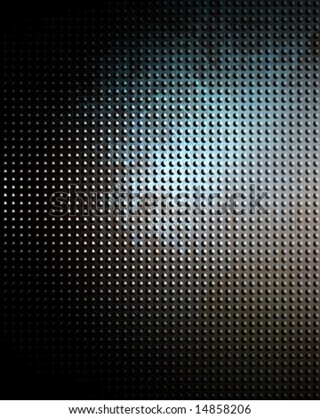 Brushed aluminium metal plate with some reflection - stock photo