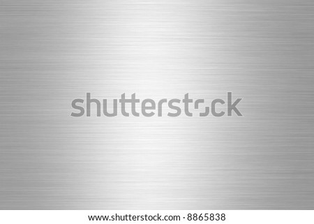 Brushed Aluminium Silver Shiny Plate - stock photo