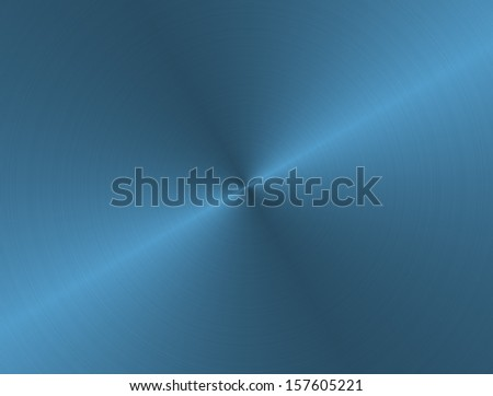 Brushed aluminum blue metal - stock photo