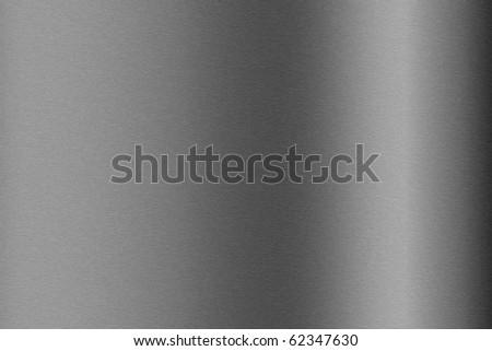 Brushed aluminum metallic plate useful for backgrounds - stock photo