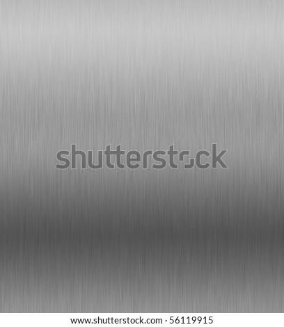 brushed aluminum plate - stock photo