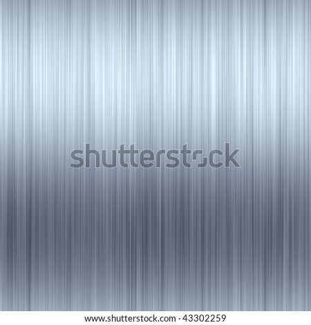 Brushed aluminum texture that tiles seamlessly as a pattern. - stock photo