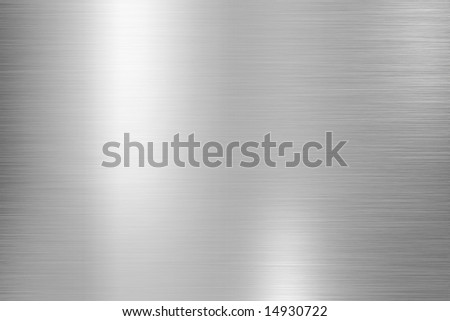 Brushed aluminum with bright highlights - stock photo