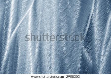 brushed blue aluminum with ripples
