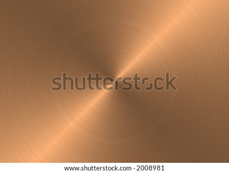 Brushed Copper Metal - stock photo