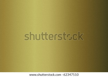 Brushed gold metallic plate useful for backgrounds - stock photo