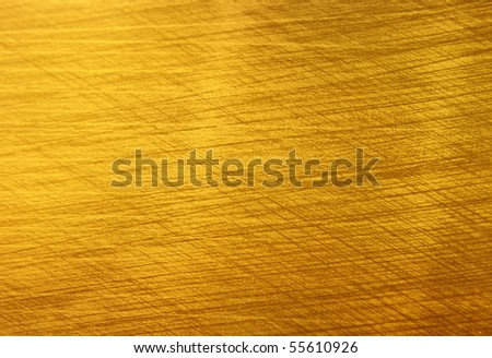 Brushed golden texture - stock photo