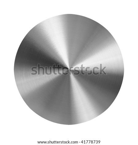 brushed metal disc - stock photo