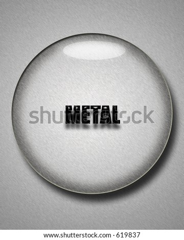 Brushed Metal Interface Button