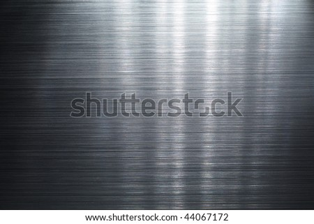 Brushed metal plate - stock photo