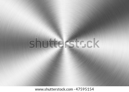 Brushed metal plate, circular - stock photo