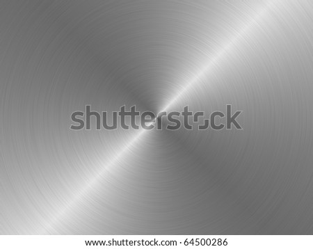 Brushed metal plate, circular. - stock photo