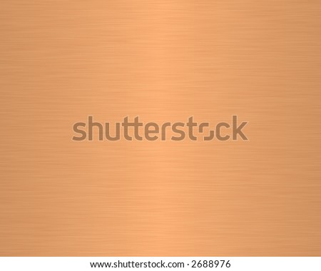 brushed metal texture background linear copper - stock photo