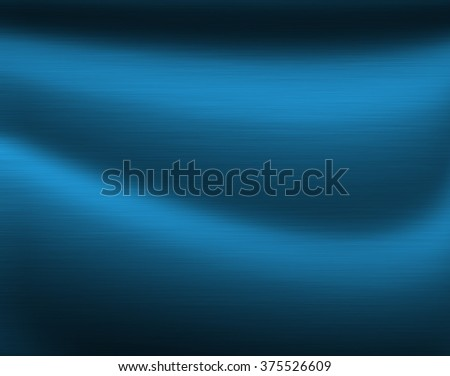 Brushed metal texture background with abstract blue surface - stock photo