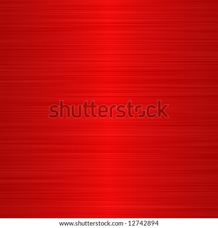 brushed red metallic background with central highlight - stock photo