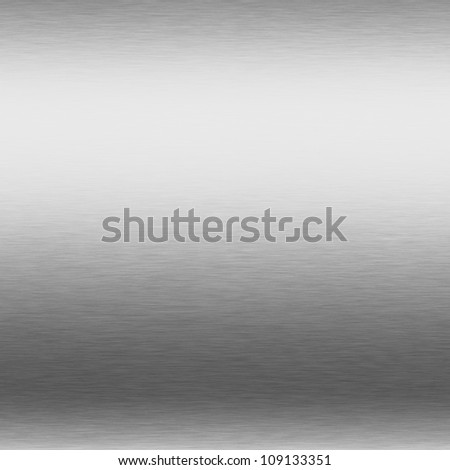 brushed silver metal background, chrome texture - stock photo