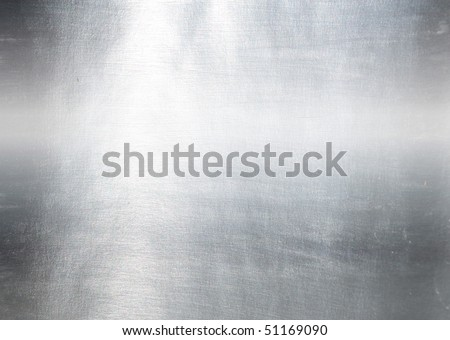 Brushed silver metallic background - stock photo